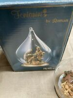COLLECTIBLE FONTANINI BLOWN GLASS ORNAMENT HOLY FAMILY IN ORIGINAL BOX