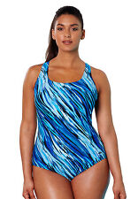 NEW! AQUABELLE SZ 20w  XTRA LIFE CHLORINE RESISITANT SWIMSUIT W/ TUMMY CONTROL