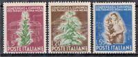 """ITALIA REPUBBLICA 1950 """"TABACCO"""" SERIE MH* SET (CAT.1)"""