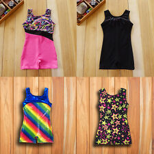 Little Girls Kids Gymnastics Gym Ballet Athletic Leotard 4-10Y Sparkle Dancewear