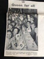 L1-9 Ephemera 1953 Slough Coronation Day Picture Burnham Children's Party