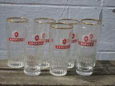 Léopold 5 verres à bière ancienne brasserie à Ixelles