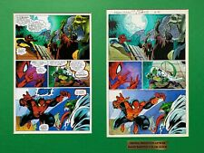 Original color guide for SPIDER-MAN UNLIMITED #19, pg 32, matted w/copy page