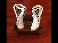 GUCCI Sneakers alte uomo pelle e montone. taglia 9, 43 1/2. Made In Italy