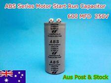 ABS Series 250VAC 600MFD Motor Start Run Capacitor 2 Terminal (G151B) Brand New