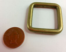 Heavyweight brass buckles, leathercraft or reenactment, Medieval, LARP