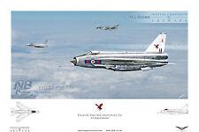 23 SQUADRONE English Electric Lightning F. 6, RAF leuchars Digital Art Print