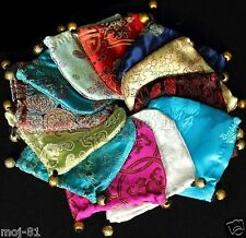 WHOLESALE 10PCS CHINESE CLASSIC HANDMADE Silk BROCADE GIFT JEWELRY BAGS POUCH
