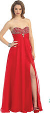 Dress Prom Red Sexy Ball Gown Party Gala Prom Evening Pageant Cocktail SZ 10