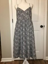 New J Crew Spaghetti-strap Dress in Liberty June's Meadow Floral Sz 12 G3502