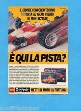TOP989-PUBBLICITA'/ADVERTISING-1989- LEGO TECHNIC - CONCORSO GP MONTECARLO