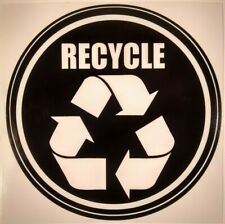 Recycle Sticker Decal Home Business Office School Waste Can Bin Garbage Reuse