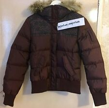 adidas Women's Neo Panel Down Jacket Brown Size S