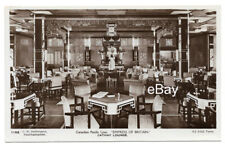 EMPRESS OF BRITAIN (1930) -- Interior Photo Post Card -- Canadian Pacific
