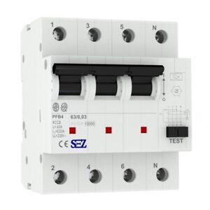 SEZ fi Switch 63A 30mA 4p 10kA Rccb 0090685 fi Protection Switch 5449