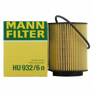 OEM Mann Engine Oil Filter HU932/6N For Audi A8 VW Jetta Passat Porsche Cayenne