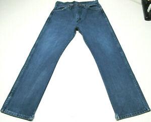 Mens Wrangler 13MWZ Cowboy Cut Slim Fit Blue Jeans Size 34x30