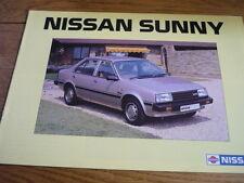 NISSAN SUNNY BROCHURE 1983 84 jm