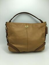 COACH LEATHER Chelsea Tan KATARINA 18901 Large Handbag Purse Shoulder Bag VCC