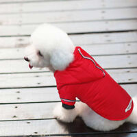 Waterproof Red Winter Warm Dog Puppy Clothes Dog Jacket Coat Pet Vest XS-XL