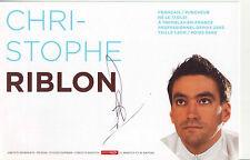 CYCLISME carte cycliste CHRISTOPHE RIBLON équipe AG2R LA MONDIALE 2009 signée