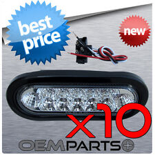 """10X NEW 6"""" LED AMBER OVAL SEALED TURN SIGNAL TAIL LIGHT TRUCK TRAILER RV USA"""