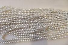 100+ PC X de cristal de perla redonda con cuentas de 8mm: #95A blanco suave