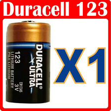 1 x Duracell Litio DL123A CR123A 123 Batteria Fotografica CR17345 DL123A