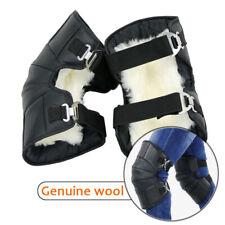 Echtes Leder Wolle Knieschützer Bein Warm Protektor Armor Motocross Guard Brace