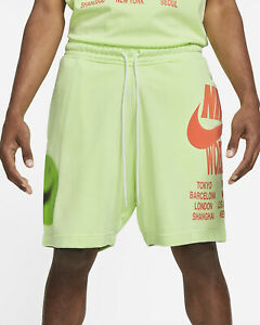 Nike Sportswear French Terry Shorts Men's Light Liquid Lime Casual Activewear