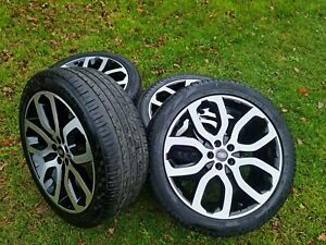 """Genuine 20"""" Range Rover Evoque Land Rover Discovery Sport Alloy Wheels Tyres"""