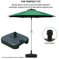 New listing Square Umbrella Parasol Base Stand Heavy Duty 22kg Concrete Patio Outdoor Garden