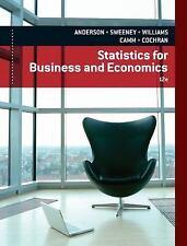 Statistics for Business and Economics 12e, James J. Cochran, David R. Anderson