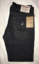 New Men's TRUE RELIGION Straight Flap Red Orange SN Jeans Size 36 x 34 NWT
