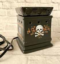 Halloween Scentsy Warmer Full Size Skull Crossbones Square Life On The Edge