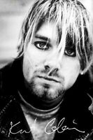KURT COBAIN ~ PHOTO PORTRAIT ~ 24x36 B/W Music Poster  Rock Nirvana Grunge