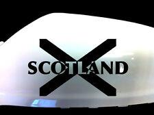 Scotland Scottish Flag Car Sticker Wing Mirror Styling Decals (Set of 2), Black