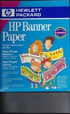 "Hewlett Packard C1820A Banner Paper Glossy White 100 pages  8.5""X11"" NIP"