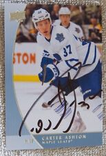 Toronto Maple Leafs Carter Ashton Signed 12/13 UD GTS/Universal Promo Card Auto