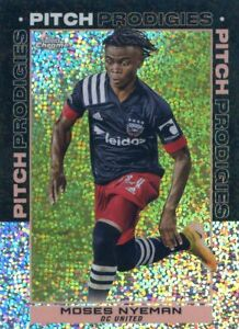 2021 TOPPS CHROME MLS  REFRACTOR SPECKLE PITCH PRODIGIES MOSES NYEMAN