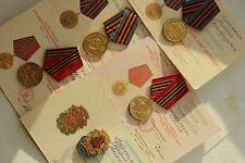 Soviet Medal Ukraine Military WWII 5 Jubilee Medals +Doc
