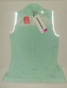 Louis Garneau Women's Beeze 2 Sleeveless Jersey. Mint Color. Sz S Back pockets.