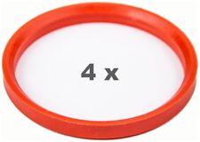 4 Pcs Centering Ring 76.0 Auf 66.6 Orange