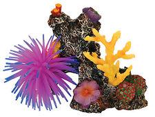 Coral Reef With Anemone Decoration 15cm Fish Tank Cave Aquarium Ornament AQ28223