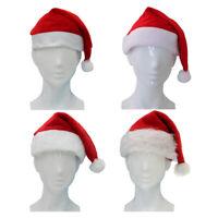 Adult Kids Santa Hat Christmas Cap Costume Xmas Party Wear Costume Claus
