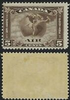 Canada Scott C2: 5c Mercury with Scroll in front of Globe Airmail, F-H