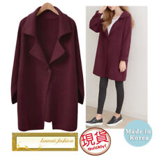 Japan made in Korea Women Fashion Wine Long Sleeves Coat Tops Jacket Blouses New