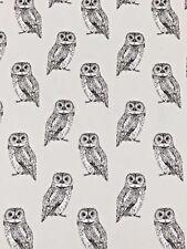 Prestigious Textiles Owlet Canvas Fabric Remnant 100% Cotton 50cm x 40cm