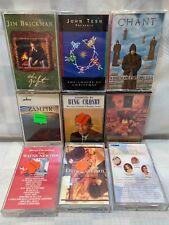 (9 Cassette Lot) Brickman TESH Crosby CHANT Newton SANBORN Zamfir Christmas