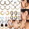 Women Boho Geometric Dangle Drop Hoop Acrylic Resin Ear Stud Earrings Jewelry